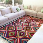 Interior decorating with kilim floor rugs