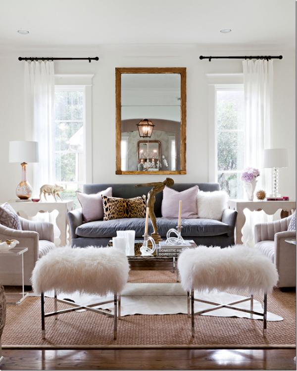 Fur touch in interior design