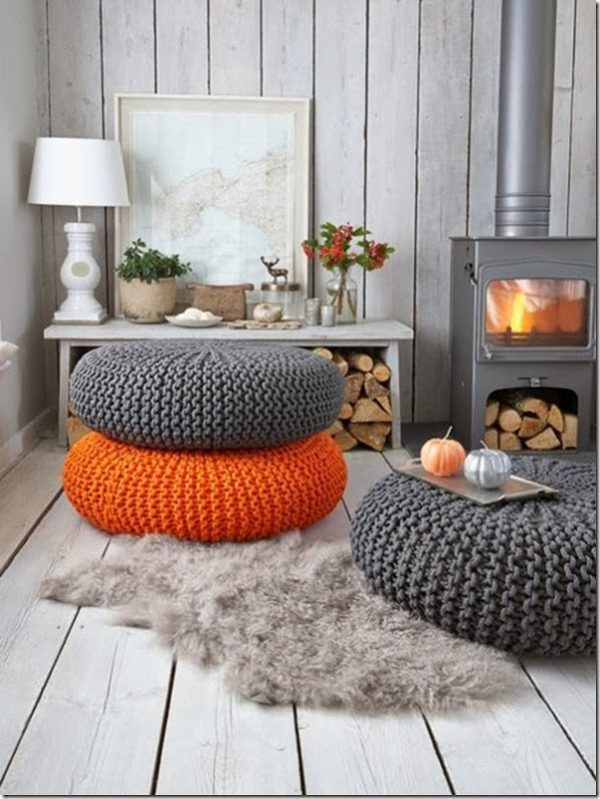 Knitted home decor