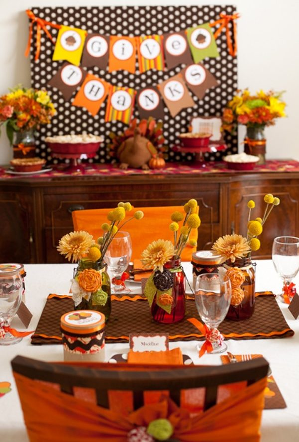 thanksgiving table decorations to make
