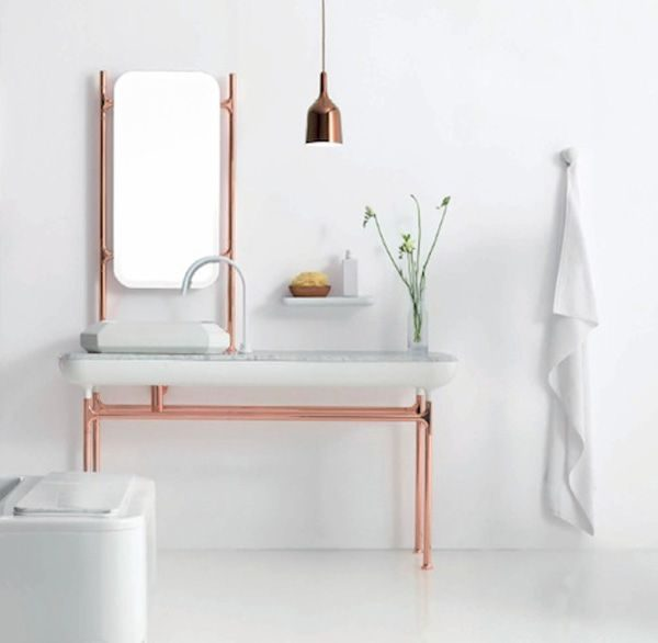 copper bathroom decor