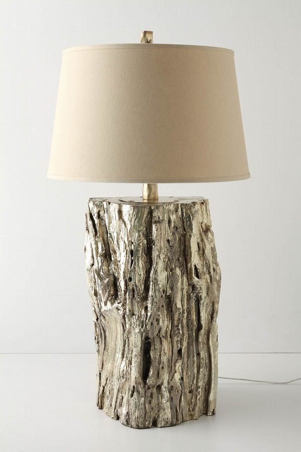 tree stump lamp