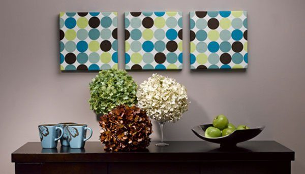 polka dot wall decor
