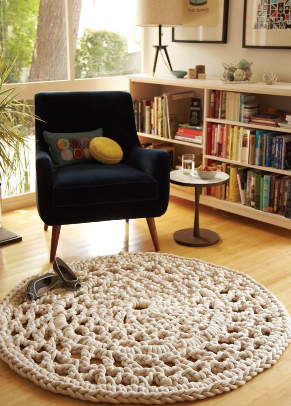 knitted rug