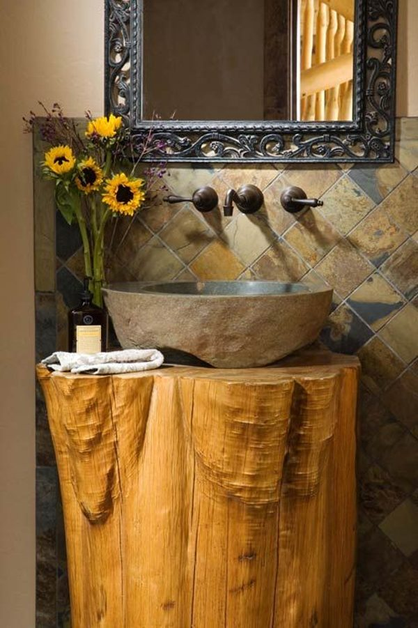 tree stump decorating ideas