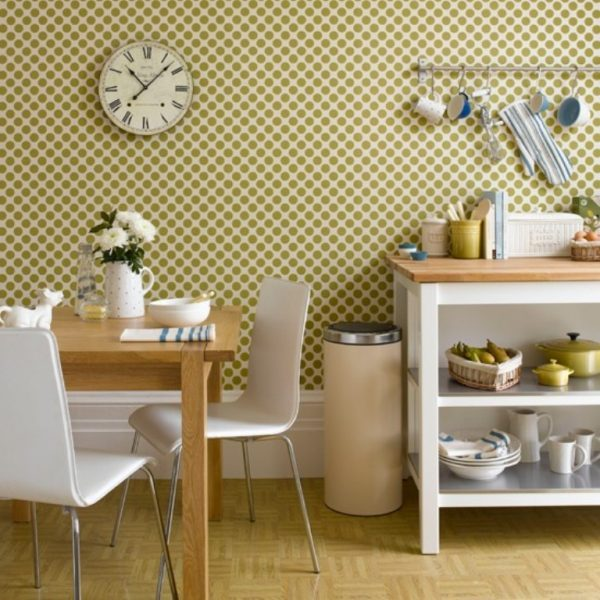 polka dot kitchen decor