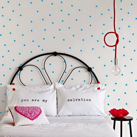polka dot bedroom
