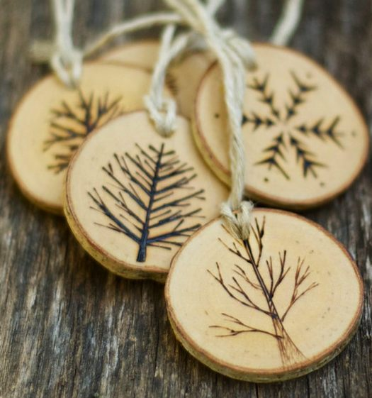pyrography christmas ornaments