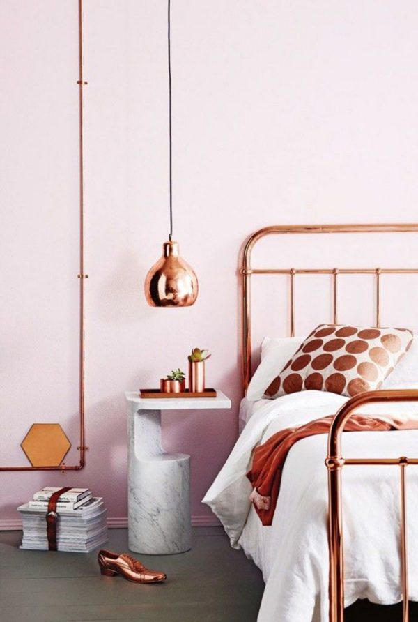 copper bedroom decor