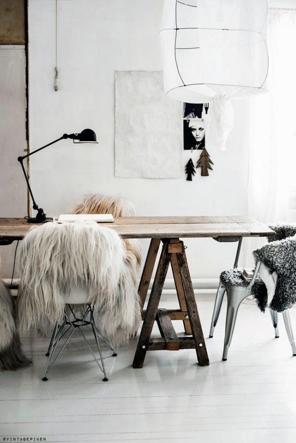 fur chair cover