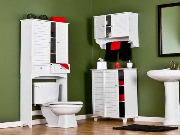 bathroom storage over the toilet