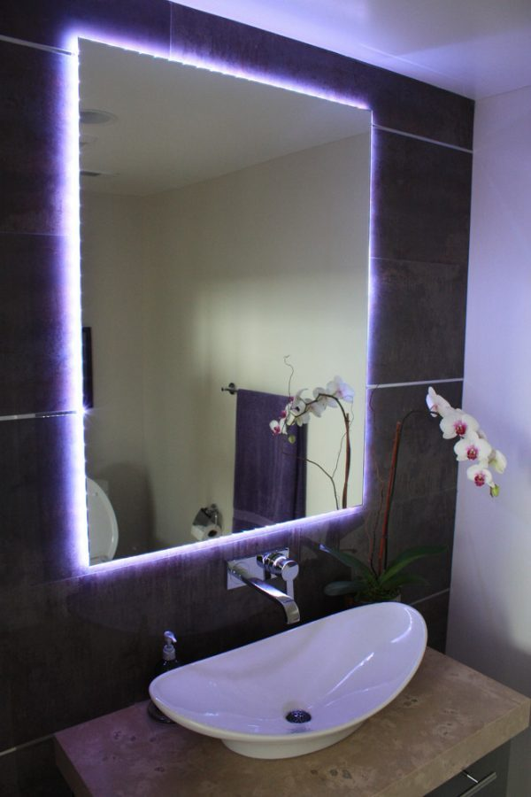 led lighting mirror