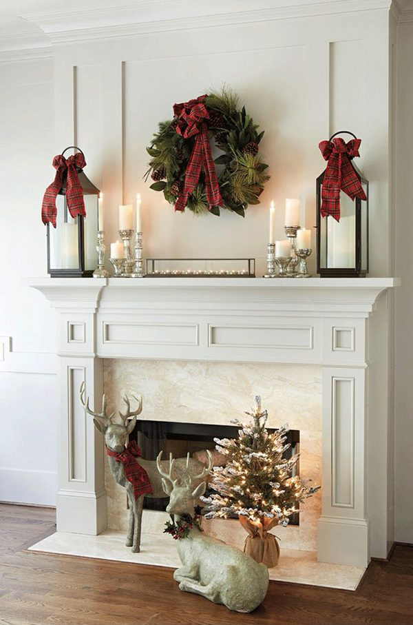 mantel ideas for christmas