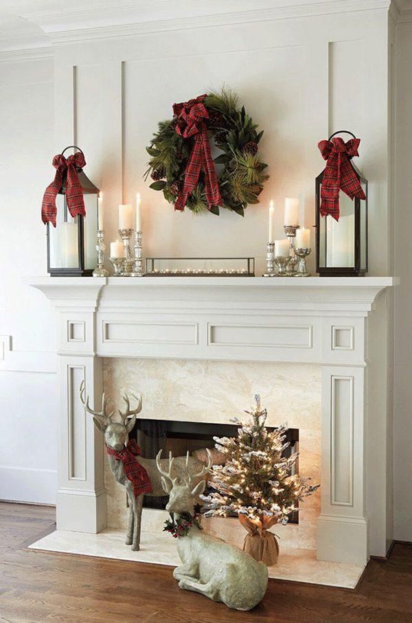 mantel ideas for christmas