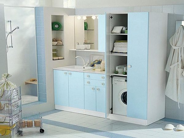 organizing a small laundry room