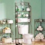 Small batrom design ideas: bathroom storage over toilet