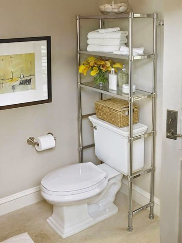 bathroom storage ideas over toilet