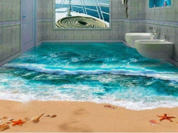 3d flooring for bathroom