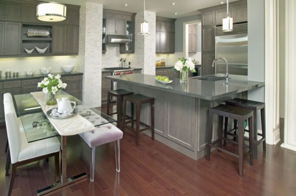 glass tables for kitchen