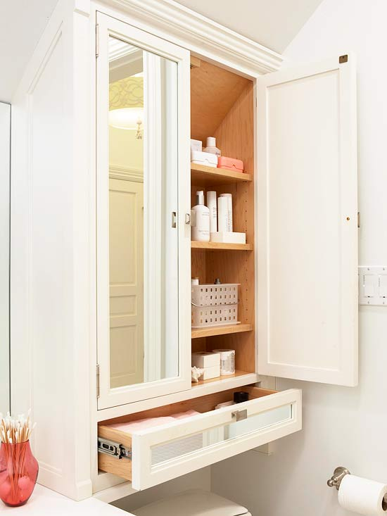 storage over toilet