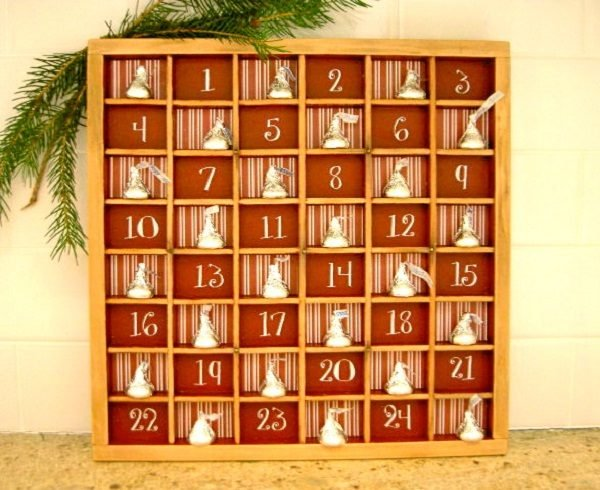 wooden christmas advent calendar