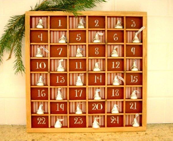 wooden christmas advent calendar