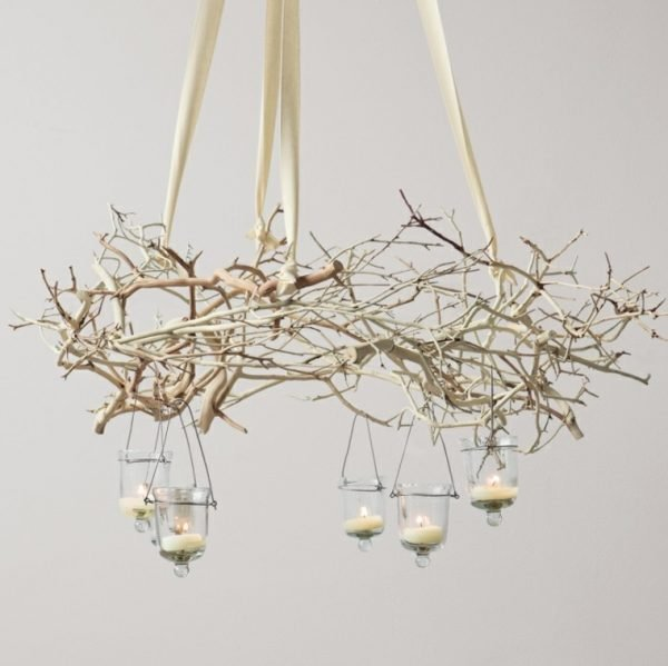 white branch chandelier