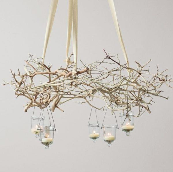 white branch chandelier