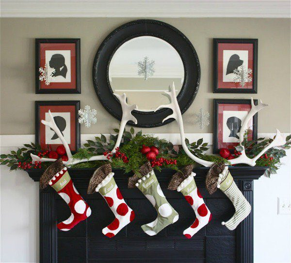 mantels decorated for christmas