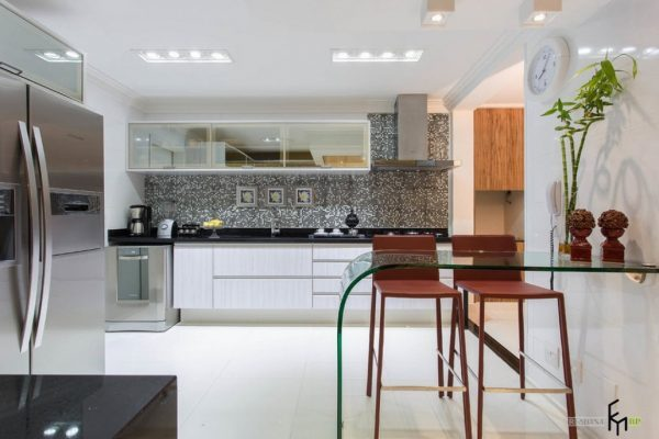 small glass kitchen tables