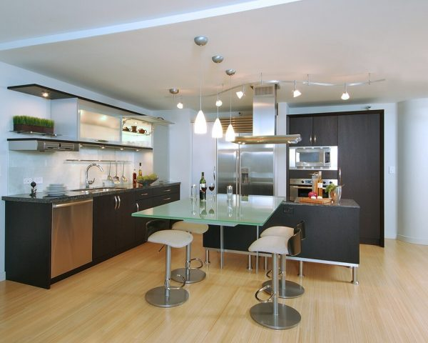 glass top tables for kitchen
