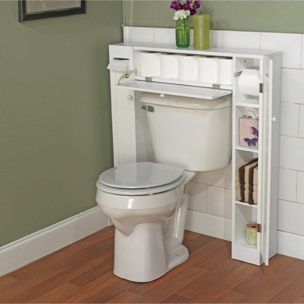 bathroom storage above toilet