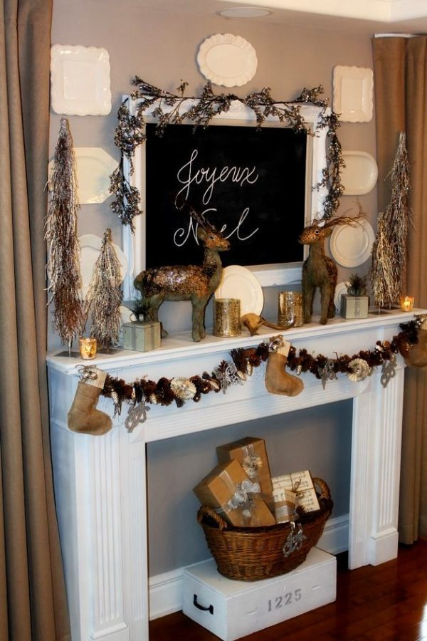 Christmas Decorations For Mantel Ideas