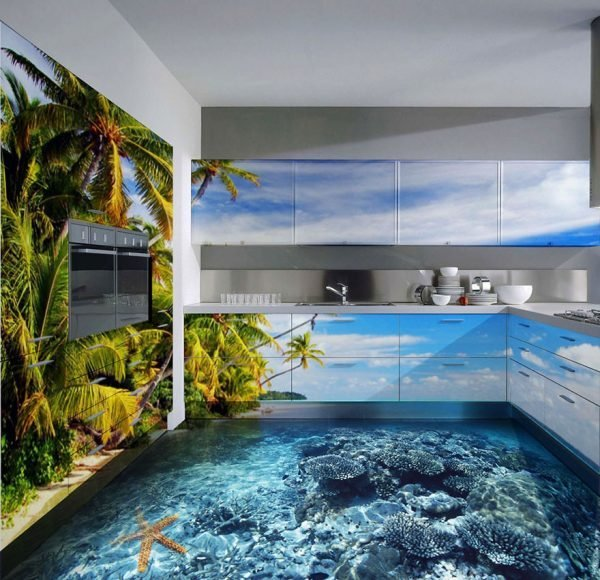 3d kitchen flooring