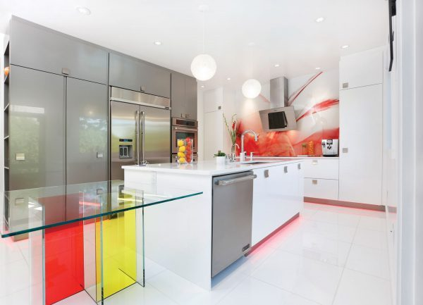 glass table for kitchen