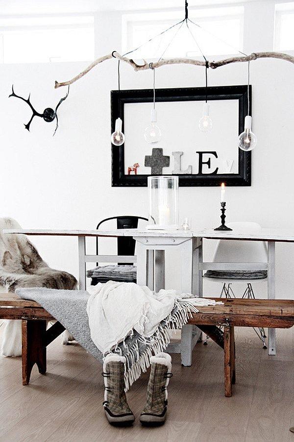 diy branch chandelier