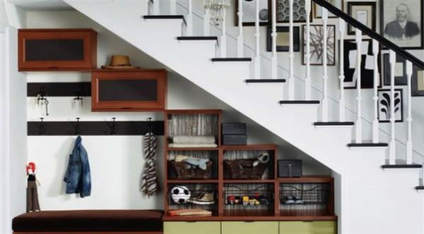 ideas of how to use space under staircase