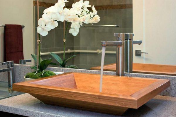 wooden sinks