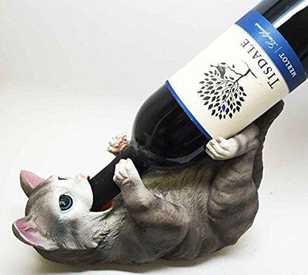 cat wine bottle holder