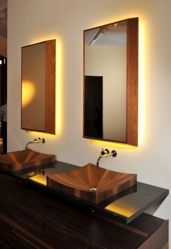 Wooden bathroom sinks