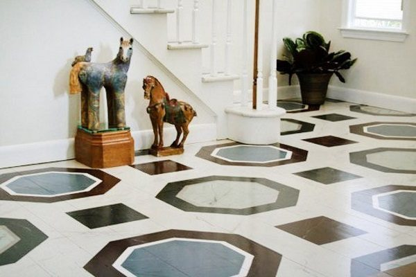 painted wooden floors