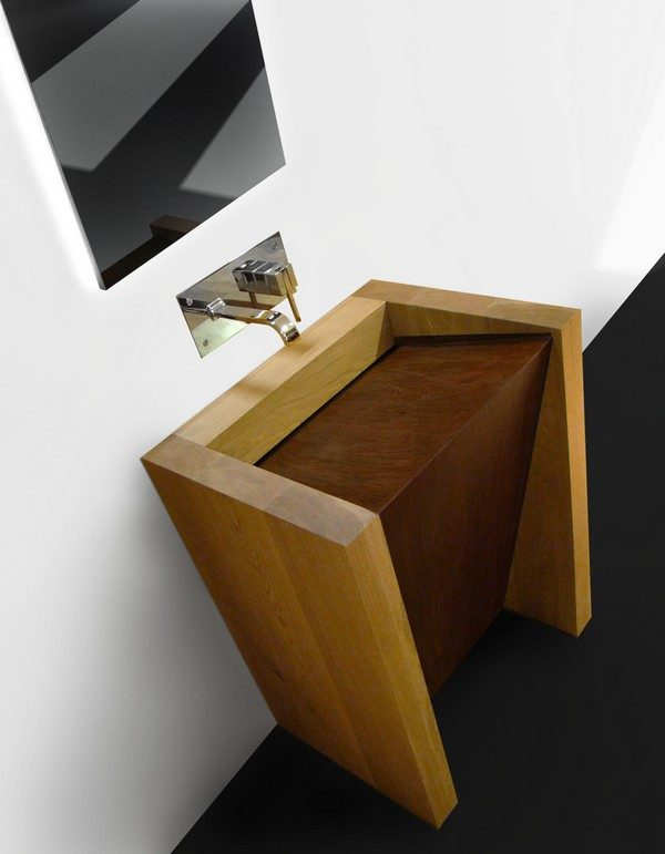 20 incredible wooden bathroom sinks - littlepieceofme