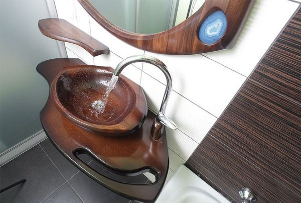 wooden bathroom sink cabinets
