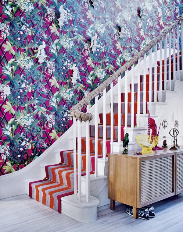 wallpaper ideas for hallway and stairs