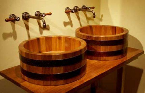 wooden bathroom sink1
