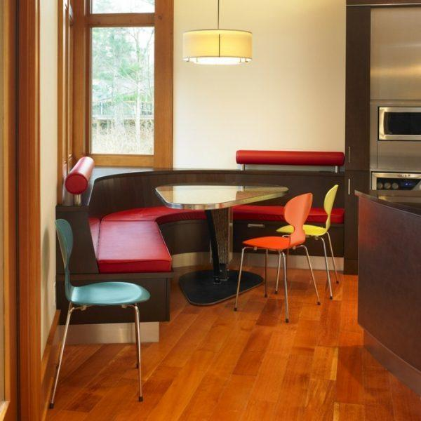 Dining table with benches - elegant and practical
