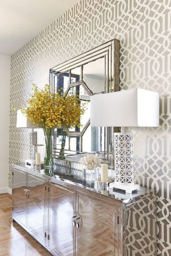 26 hallway wallpaper decorating ideas little piece of me for Wallpaper on walls home decor furnishings