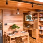 Modern interior decorating with bonsai plant