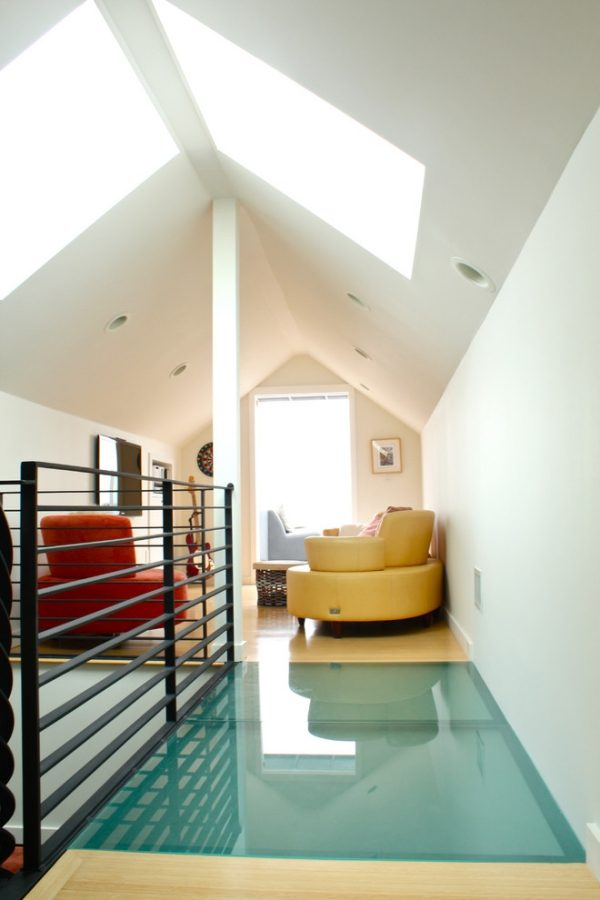 glass block floor
