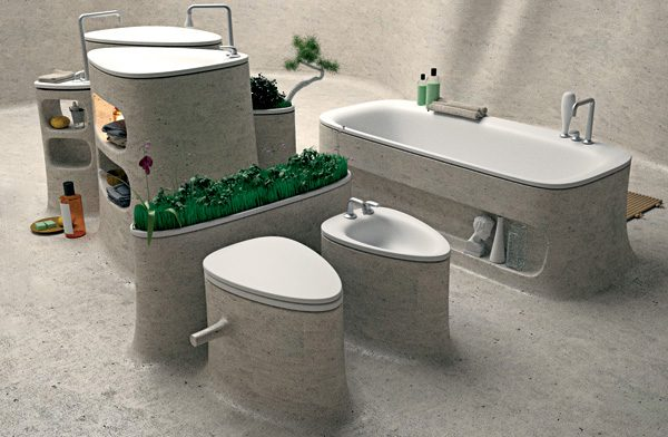 Concrete Bathroom Design eco bathroom design. Eco Friendly Bathroom Accessories   LittlePieceOfMe